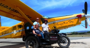 Skydiving and sidecar touring Algarve